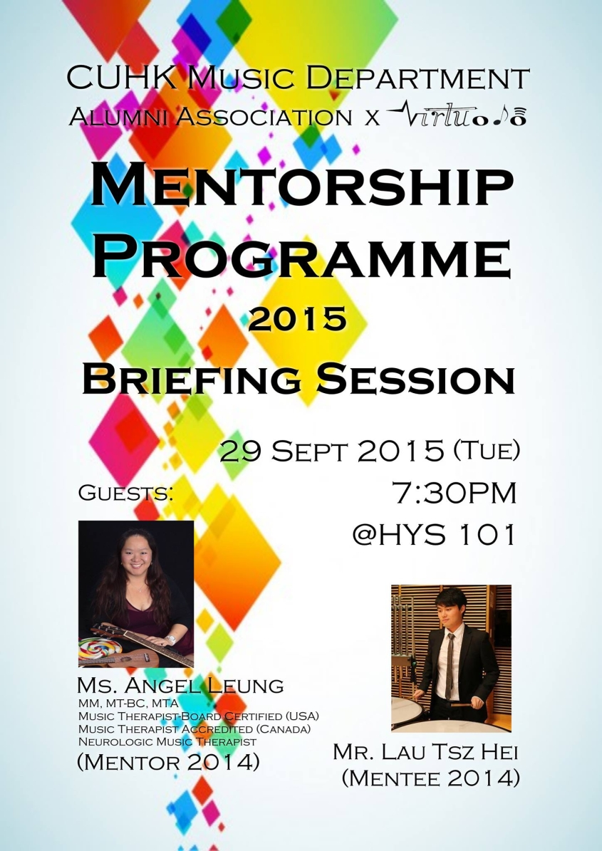 Mentorship Programme Briefing Session 29/9/2015